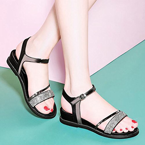 sandals Fashion summer Color Roman B 34 Size simple Flat Sandals shoes sandals flat Korean sandals A students wq1Rc41vt5