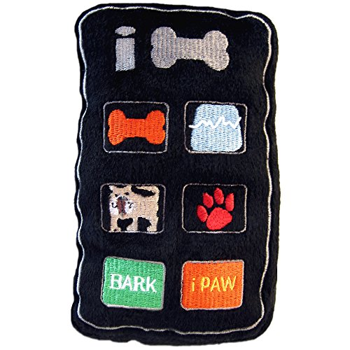 Dog Diggin Designs Runway Pup Collection | Unique Squeaky Plush Dog Toys - Fashion Accessories (iBone, Large)