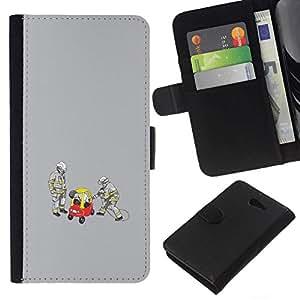 All Phone Most Case / Oferta Especial Cáscara Funda de cuero Monedero Cubierta de proteccion Caso / Wallet Case for Sony Xperia M2 // Funny Drunk Driver