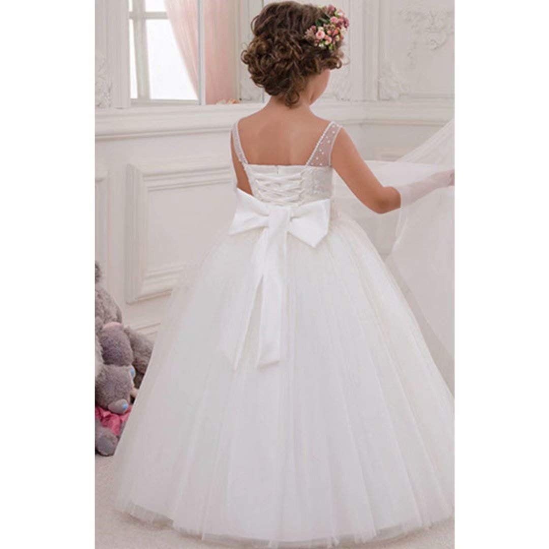 55af9ef069 Amazon.com  Suiun Dress Flower Girls Dress Wedding Dress Accessories Tulle  Skirt First Communion Dresses for Girls  Clothing