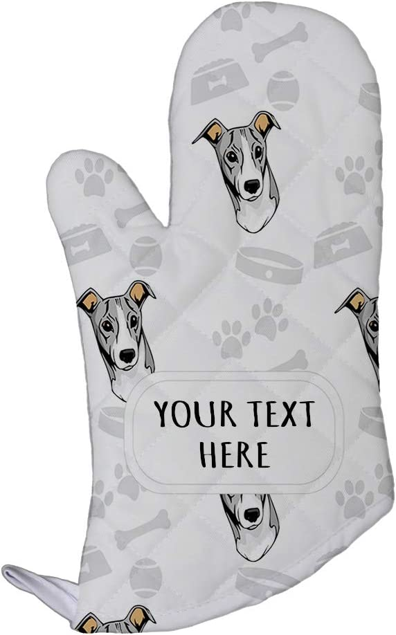 Style In Print Polyester Oven Mitt Custom Italian Greyhound Dog Pattern Adults Kitchen Mittens