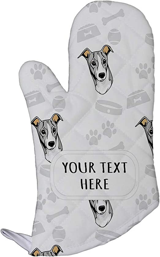 Mini Oven Mitts  DOG PAW PRINTS Set of 2 BLACK