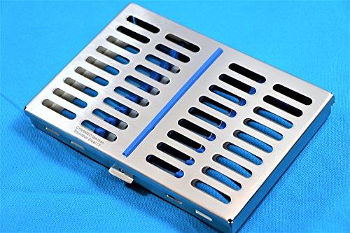 GERMAN STEEL DENTAL AUTOCLAVE STERILIZATION CASSETTE RACK BOX TRAY FOR 10 (Rack Cassette)