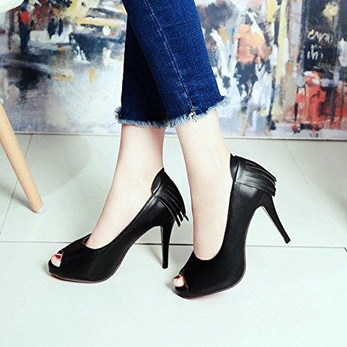 Meijia - Zapatos con tacón mujer negro