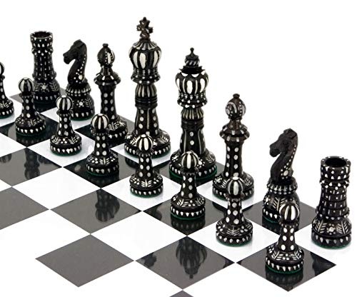 craftstore14 Kings Cross Special Chess Set in Camel Bone Hand Carved 4 Inch ()