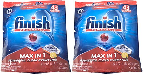 Finish Max in 1 Powerball Ultra Degreaser with Lemon Scent,