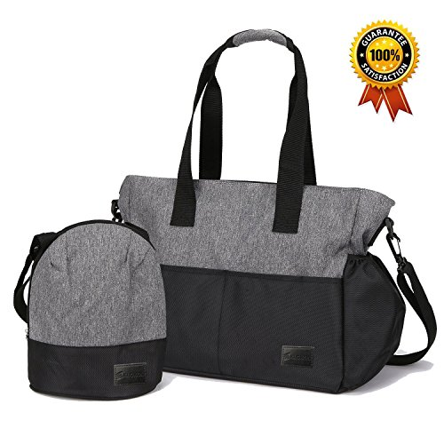Klokol IPX4 Waterproof Baby Diaper Bag Tote for Mom with 10...