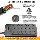 8 Ft Power Strip, Yintar Surge Protector with 18 AC