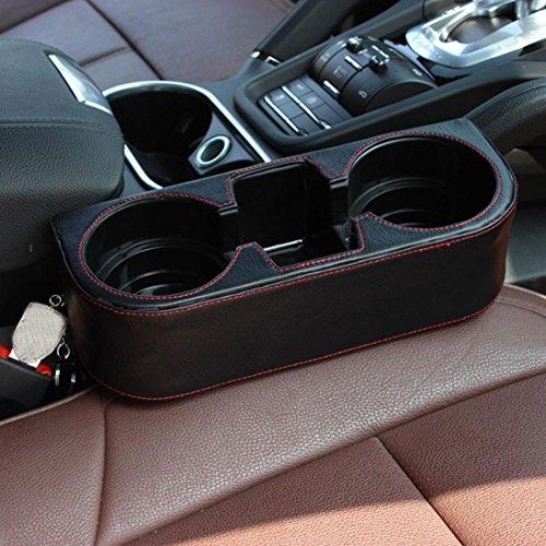 binmer tm black 2 cup holder drink beverage seat wedge car import it all. Black Bedroom Furniture Sets. Home Design Ideas