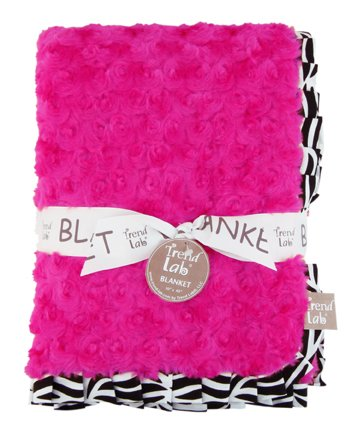 Trend Lab Velour Blanket with Trim