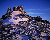 Close-up of snow covered lava in Iceland 30x40 photo reprint