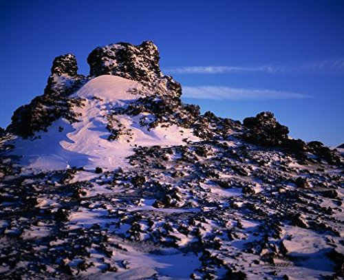 Close-up of snow covered lava in Iceland 30x40 photo reprint by PickYourImage