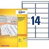 Avery 2800 Etiquettes Autocollantes pour Photocopieur Monochrome - 105x42mm - Impression copieur - Blanc (23525)