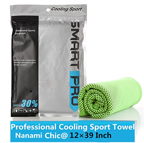 Sports Ultimate Cooling Towel For Instant Relief Soft Breathable Mesh For Athletes Yoga Running Biking Hiking Indoor Exercises Fitness (Green)