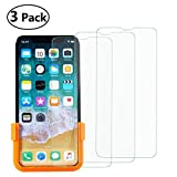iPhone X Screen Protector, 0.33mm Tempered Glass Screen Protector for iPhone X/iPhone 10, 3 Pack
