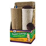 Four Paws Super Catnip Cat Scratching Post, 21'' Tall Sisal and Carpet Scratching Post
