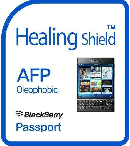 Healingshield スキンシール液晶保護フィルム Oleophobic AFP Clear Film for Blackberry Mobile Passport [Front 2pc+Back 1pc]