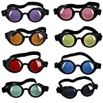 OMG_Shop Vintage Victorian Steampunk Welding Cyber Punk Gothic Cosplay HS Goggles Glass Black Frame 6