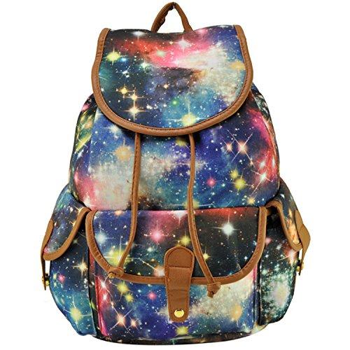 Fashion Galaxy Casual Canvas Backpack