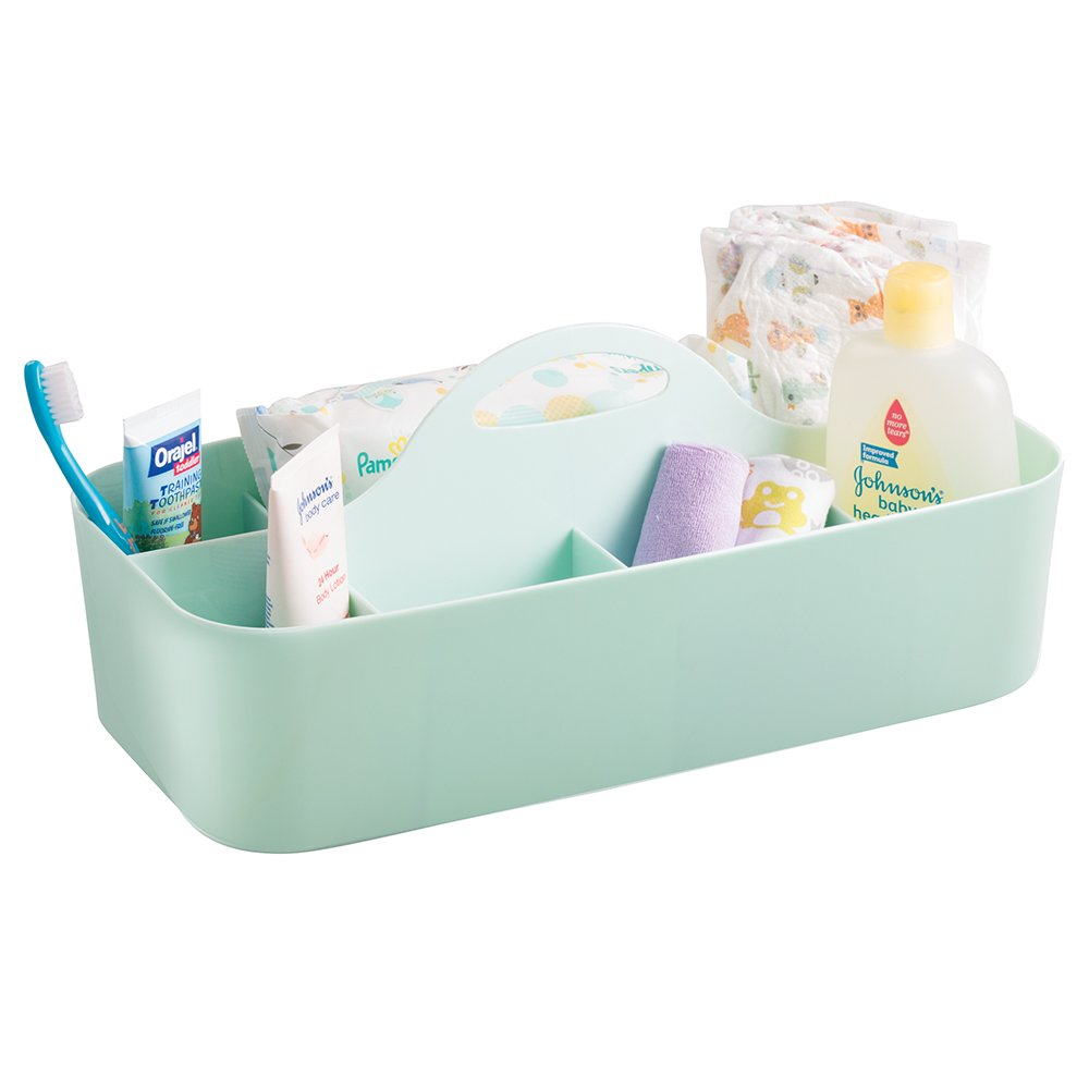 Amazon.com: mDesign Baby and Toddler Nursery or Bath Tote Caddy ...