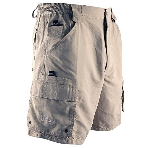 AFTCO Bluewater M03 Tournament Side Elastic Shorts - Khaki - Size - Boots Bluewater