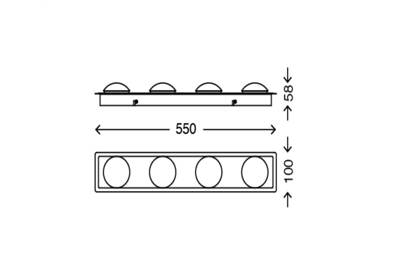 Briloner Surfline 2091-048 LED Ceiling Light for Bathroom