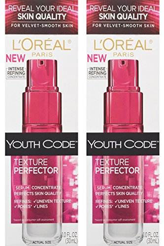 L'oreal Paris Youth Code Texture Perfector Serum, 1.0 Ounce, (Pack of 2) (Youth Code Serum)