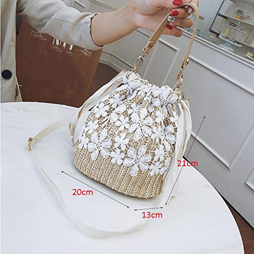 Crossbody Bag Crossbody Beach Shoulder Bag Wild Liu Bag Woven Women Bucket Handbags House Bags · Creative Yu nZC1CqB