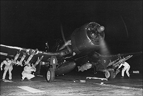 - 24x36 Poster . Vought F4U-4B Corsair Marine F Sq (Vmf-214) Blacksheep 1950