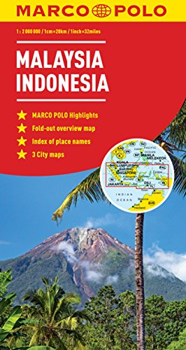 Malaysia, Indonesia Marco Polo Map (Marco Polo Maps)