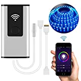 Smart WIFI Remote Controller, Wireless Phone APP Control for LED Light Lamp RGB LED Light Strips, Android and IOS, Home Voice Control Compatable with Google Assistant/Amazon Alexa (RGBW 5pin)