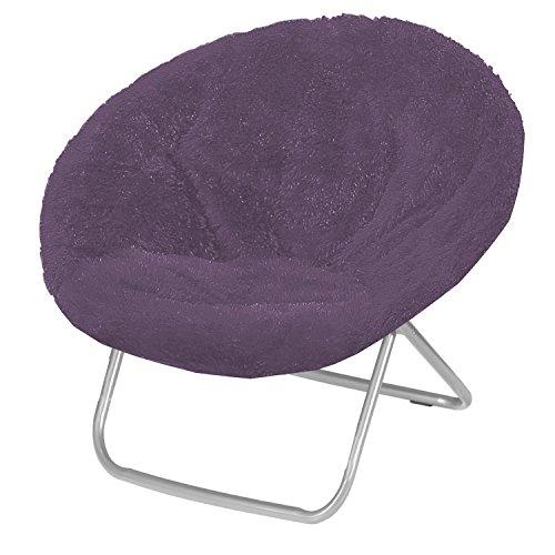 (Urban Shop Saucer Chair, Adult, Purple)