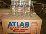 Hazel Atlas Ez Seal Antique / Collectible Quart Sized Jars - Sealed Original Factory Carton (New Old Stock) 12 Pieces From Approx 1954-64 Vintage - Great Looking Decorative Jars
