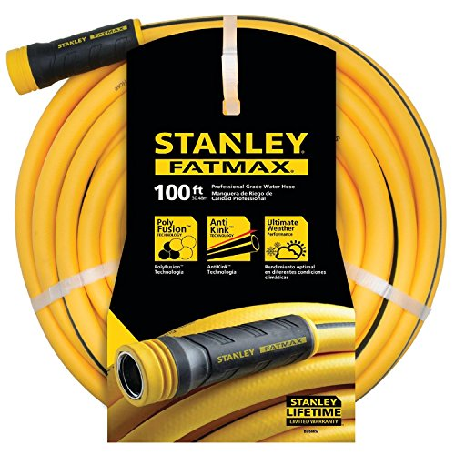CC Outdoor Living Stanley FATMAX Professional Grade Yellow Water Hose 100' x 5/8