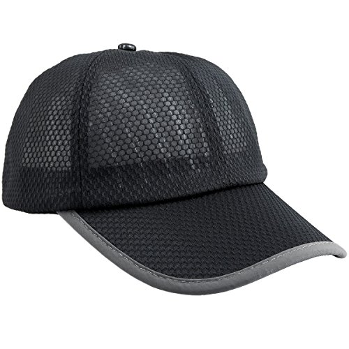 (squaregarden Baseball Cap Hat,Running Golf Caps Sports Sun Hats Quick Dry Lightweight Ultra Thin,Black(Mesh Hat),One Size)