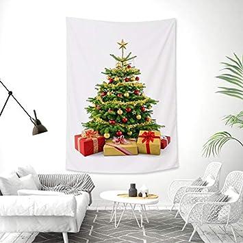 Lucky store Tapiz de Navidad Arte de Pared Arte Adornos de Navidad árbol patrón Rojo decoración del hogar/Dormitorio/Sala de Estar/Dormitorio decoración, ...