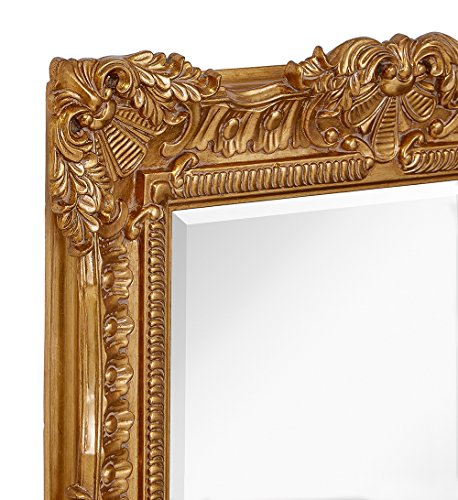 Large Ornate Gold Baroque Frame Mirror Aged Luxury Elegant