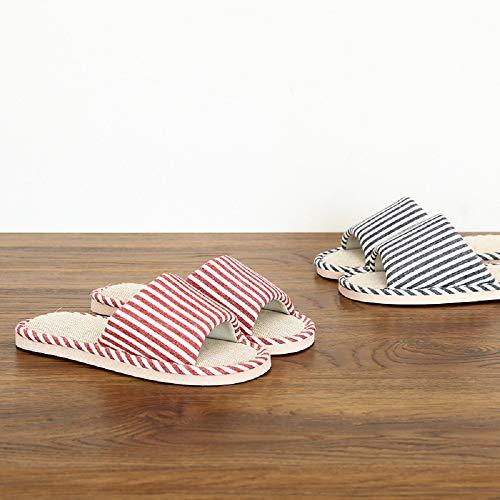 Summer Mae pour Sandales Pantoufles Le Printemps Lin en rr7wx