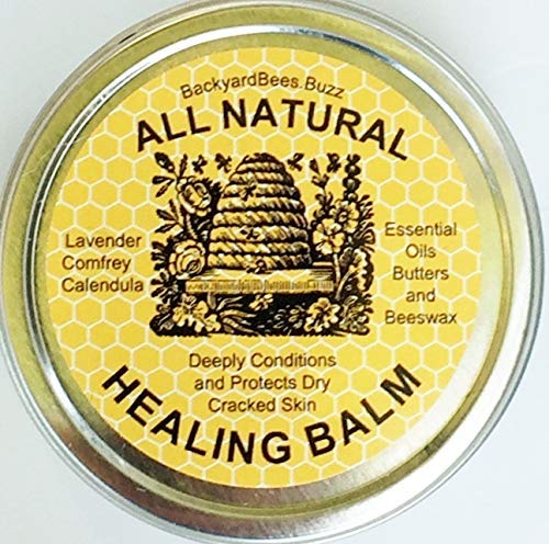 (Healing Balm for Dry Cracked skin All Natural Lavender Comfrey Calendula Beeswax)