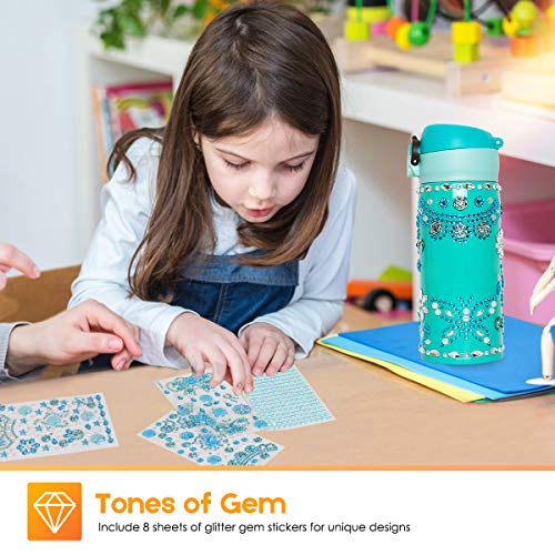 Beewarm Gift for Girls Age 5 6 7 8 9 10 12, Decorate Your Water Bottle with Tons of Stickers – DIY Craft Kits for Teens…