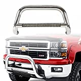 f150 bull bar chrome - U-Drive Auto Stainless Grille Guard Bull Bar With LED Lgiht Bar For 2004-2018 Ford F150