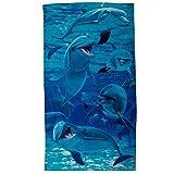 A Pod of Dolphins Velour Beach Towel