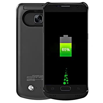 Heliomax 5200mah negro batería fundas cargadores batería externa per Samsung Galaxy S7 Edge G935 G935F / S7 Edge duos