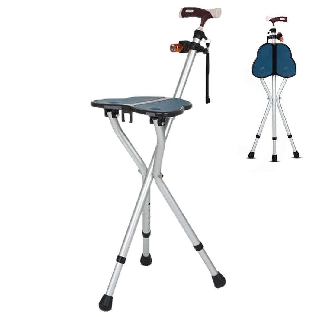 熱販売 YGUOZ B07P965CXB 杖椅子 携帯型 折りたたみ 携帯型 5 男性女性兼用、ステッキ椅子 LED懐中電灯、ステッキ 5 高さ調節可能,blue blue B07P965CXB, 味方村:80d4ca62 --- a0267596.xsph.ru