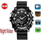Hidden Camera Watch HD 1080P Video Photograph Record 3 in 1 IR Night Vision Waterproof in Life 16GB