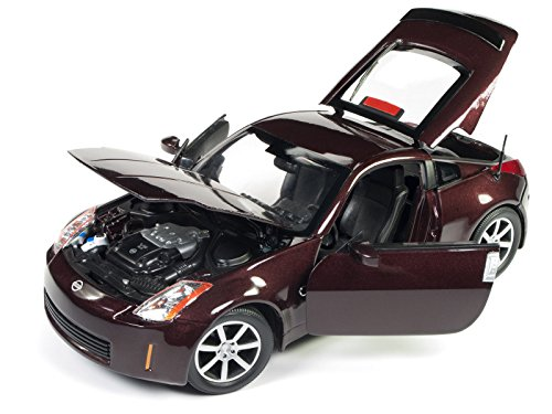 2003 Nissan 350Z Coupe Brickyard Red Metallic Limited Edition to 1002 pieces Worldwide 1/18 Diecast Model Car by Autoworld AW240