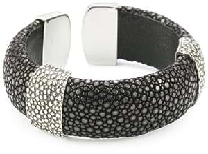 Amazon Com Zina Sterling Silver Cuff Bracelet In Black