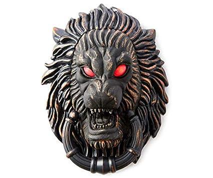 AAN Haunted Hollow Animated Lion Door Knocker