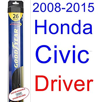 2008-2015 Honda Civic Sedan Wiper Blade (Driver) (Goodyear Wiper Blades-