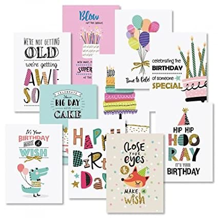 Amazon Simple Wishes Birthday Greeting Cards Value Pack Set